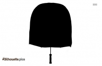 Umbrella Hat Silhouette Clipart