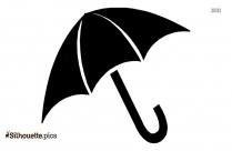 Beach Umbrella Silhouette Image