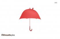 Umbrella Silhouette, Clipart Image