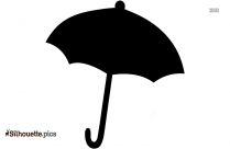 Free Open Umbrella Silhouette Illustration