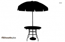Umbrella Table Silhouette Drawing
