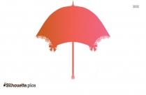 Umbrella Wedding Shower Silhouette Clipart