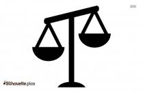 Unbalanced Icon Silhouette Illustration