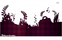 Under The Sea Border Silhouette Background