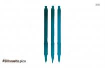 Uni Ball Pen Silhouette Image