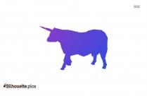 Unicorn Cow Clipart Vector Image