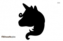 Unicorn Crown Silhouette Free Vector Art