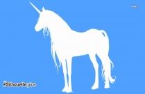 Free Girl Riding Unicorn Silhouette
