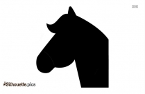 Walking Horse Clipart Silhouette Image