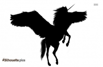 Unicorn Drawings Silhouette Background