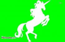 Unicorn Jumping Silhouette Art