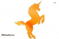 Unicorn Jumping Silhouette Drawing
