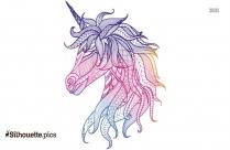 Unicorn Mandala Silhouette Clip Art