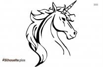 Cartoon Unicorn Silhouette Vector