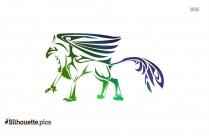 Unicorn Tattoo Tribal Animal Silhouette