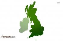 United Kingdom Map Logo Silhouette Vector