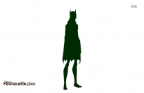 Unmasked Batwoman Silhouette