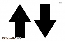 Up And Down Arrow Silhouette Image