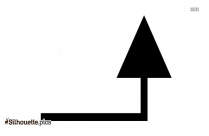 Up Arrow Drawing Silhouette Image And Vector