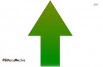 Left Arrow Symbol Silhouette Vector Art
