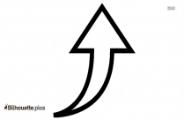 Up Arrow Symbol Silhouette Art Vector