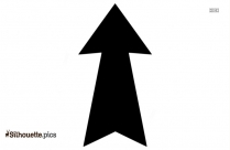 Up Arrow Symbol Silhouette Background