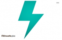 Up Flash Symbol Silhouette