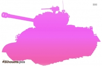 Military Tank Silhouette Image For Free