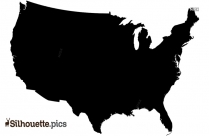 US Map Silhouette