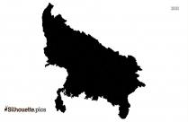 Uttar Pradesh Silhouette Clip Art