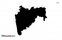 Uttar Pradesh State Map Silhouette Image