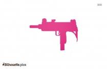 Uzi Machine Pistol Logo Silhouette For Download