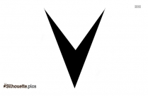 V-shaped Shape Silhouette Picture