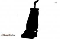 Vacuum Cleaner Silhouette Vacuuming