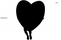 Cupid Heart Silhouette Background