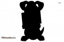 Valentine Day Puppy Love Silhouette
