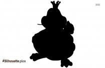 Valentine Frog Silhouette Illustration
