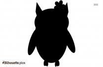 Black And White Owl Border Silhouette