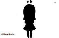 Cartoon Birthday Girl Silhouette Free Download