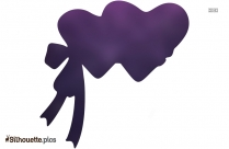 Black Love Drawing Silhouette Image