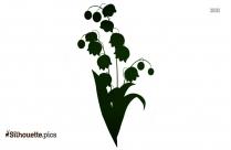 Flower Garland Silhouette Illustration