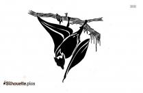 Flying Halloween Bats Silhouette Image
