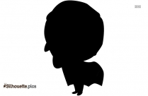 Little Boy Standing Silhouette Image