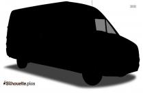 Van Truck Silhouette Drawing