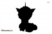 Cartoon Bull Pokemon Silhouette, Vector