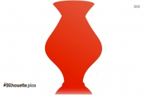 Pottery Vases Silhouette Background