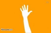 Raised Hand Silhouette Free Vector Art