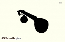 Veena Silhouette Clipart Image