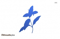 Single Flower Logo Silhouette For Download