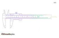Vernier Caliper Clipart Drawing